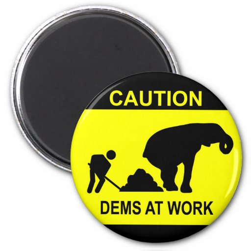 Dems At Work Magnet