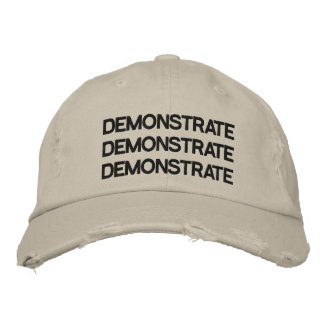 Demuestre la piedra apenada gorra ajustable gorras bordadas