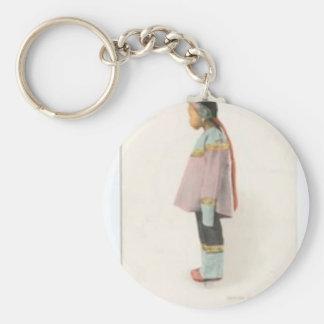 Demure and Shy Keychain