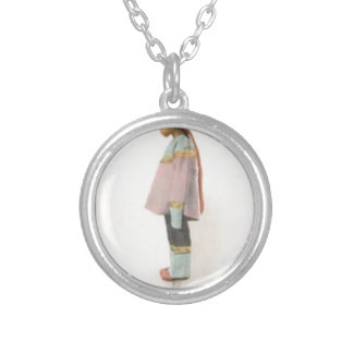 Demure and Shy Silver Plated Necklace