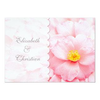 Demure Delicate Pink Floral Wedding Invitation