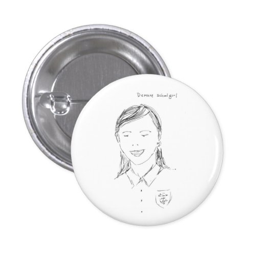 demure schoolgirl button