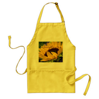 Demure Sunflower. Adult Apron