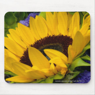 Demure Sunflower. Mouse Pads