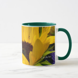 Demure Sunflower. Mug
