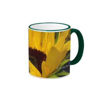 Demure Sunflower. Coffee Mugs