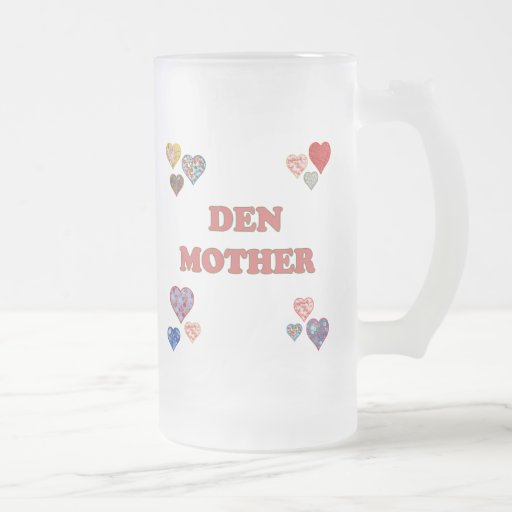Den Mother 16 Oz Frosted Glass Beer Mug