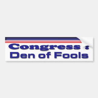 Den of Fools Car Bumper Sticker