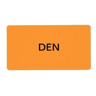 Den Packing & Moving Label