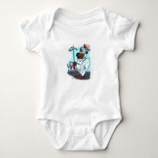Den Ritter vor dem Mund, hält den Magen gesund! Baby Bodysuit