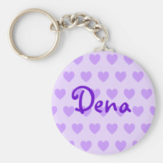 Dena en púrpura llaveros personalizados