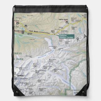 Denali (Alaska) map backpack