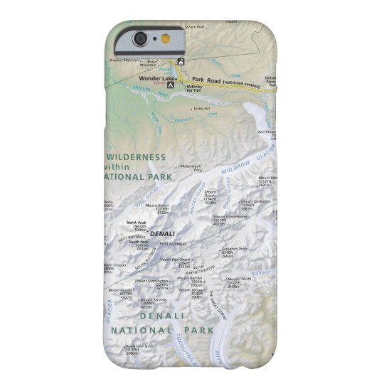 Denali Alaska Map Phone Case Zazzle Com