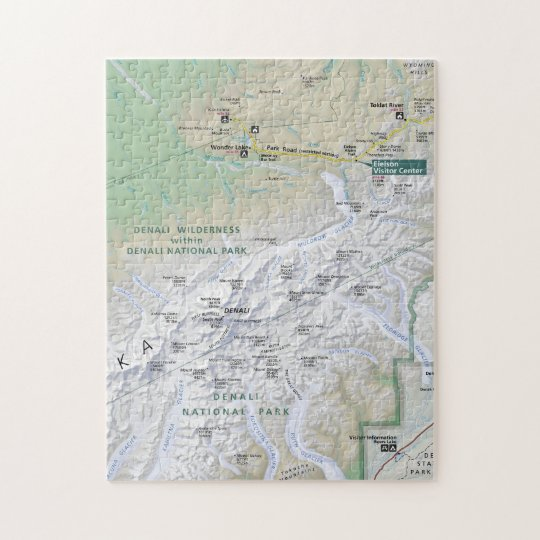 Denali Alaska Map Puzzle Zazzle Com