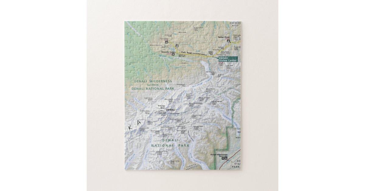 Denali (Alaska) map puzzle | Zazzle.com on