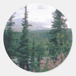 Denali - Alaska Pegatina Redonda
