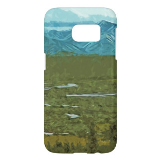 Denali Alaska Rivers Abstract Impressionism Samsung Galaxy S7 Case