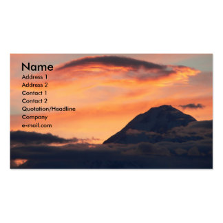 Denali at Midnight Profile Card Business Card