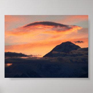 Denali at Sunset Poster