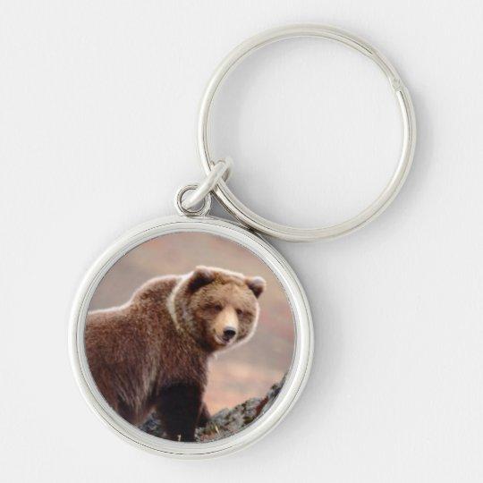 Denali Brown Bear Keychain