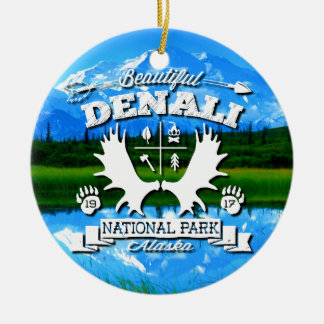 Denali Camper Double-Sided Ceramic Round Christmas Ornament