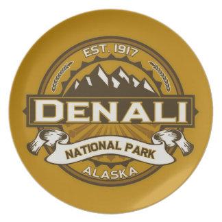 Denali Color Logo Melamine Plate