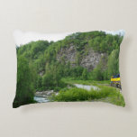 Denali Express Alaska Train Vacation Photography Accent Pillow