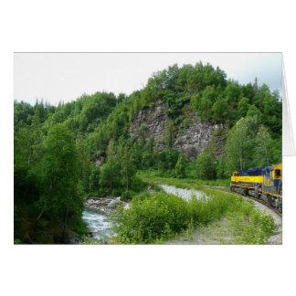 Denali Express Alaska Train Vacation Photography Card