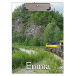 Denali Express Alaska Train Vacation Photography Clipboard