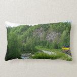 Denali Express Alaska Train Vacation Photography Lumbar Pillow