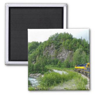 Denali Express Alaska Train Vacation Photography Magnet