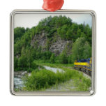 Denali Express Alaska Train Vacation Photography Metal Ornament