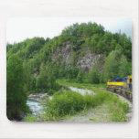 Denali Express Alaska Train Vacation Photography Mouse Pad