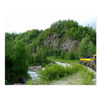 Denali Express Alaska Train Vacation Photography Postcard