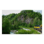 Denali Express Alaska Train Vacation Photography Poster
