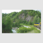 Denali Express Alaska Train Vacation Photography Rectangular Sticker