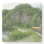 Denali Express Alaska Train Vacation Photography Stone Coaster