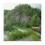 Denali Express Alaska Train Vacation Photography Tile
