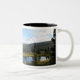Denali in August Two-Tone Coffee Mug