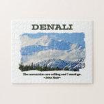 Denali intrépido/las montañas está llamando… J Mui Rompecabezas Con Fotos