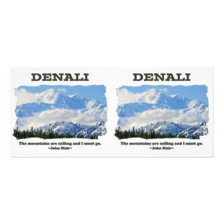 Denali intrépido/las montañas está llamando… J Tarjeta Publicitaria