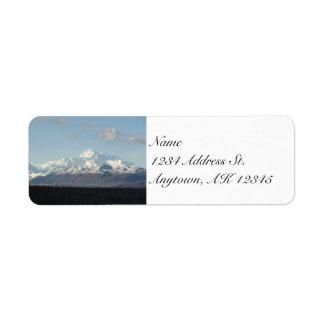 Denali Mountains custom return address labels