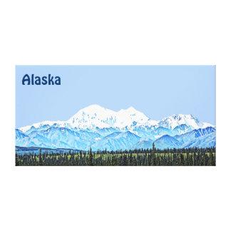 Denali (Mt. McKinley) Stretched Canvas Prints