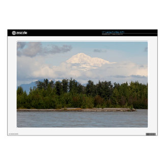 Denali, Mt McKinley, from river, Alaska, USA 2 Laptop Skins