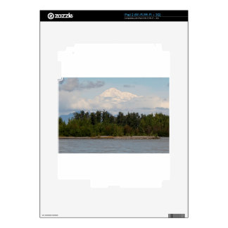Denali, Mt McKinley, from river, Alaska, USA 2 Decal For The iPad 2