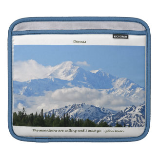 Denali / Mtns are calling-J Muir/with border iPad Sleeve