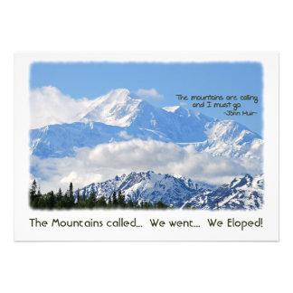 Denali: Mtns called - We Eloped! Custom Announcement