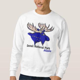 Denali National Park Alaska flag elk guys shirt