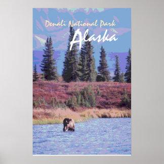 Denali National Park Alaska scenic poster