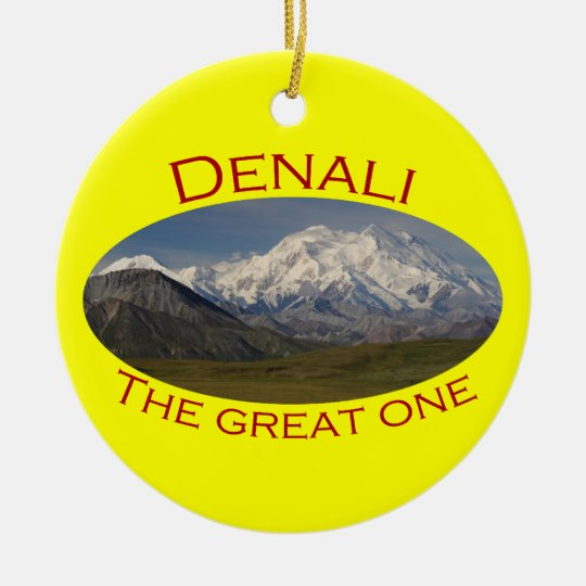 Denali National Park Ceramic Ornament